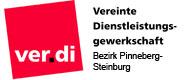 Logo Verdi - Vereinte Dienstleistungsgewerkschaft - Bezirk Pinneberg-Steinburg