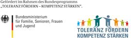 Logo des Bundesministeriums für Familie, Senioren, Frauen und Jugend, Logo Toleranz Fördern - Kompetenz stärken