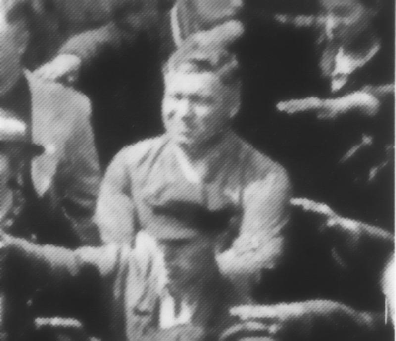 August Landmesser beim Blohm+Voss Stapellauf der Horst Wessel 13.06.1936 (unbekannt/Süddeutsche Zeitung)