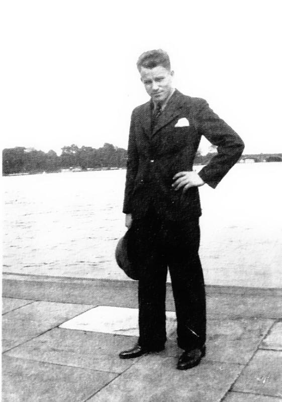 August Landmesser 1935 (unbekannt/Irene Eckler: Die Vormundschaftakte, Schwetzingen 1996)
