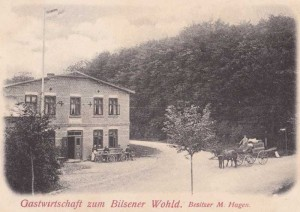 Quickborn - Gastwirtschaft zum Bilsener Wohld, Kieler Straße, ca. 1900 (Fotograf unbekannt)