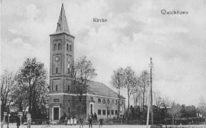 Quickborn - Ev.-luth. Kirche, Kieler Straße, ca. 1920 (Fotograf unbekannt)
