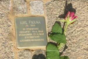 Karl Fnouka, Stolperstein: Treppenstraße, Helgoland, Verlegung 17.4.2010 (Foto M. Richters)