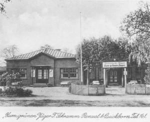 Quickborn-Renzel - Gastwirtschaft Zum grünen Jäger, ca. Mitte der 1930er Jahre (Foto: W. Bindseil)