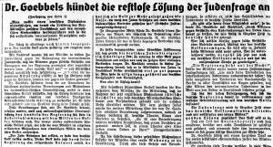 Juden Endlösung QHT 14-11-1938