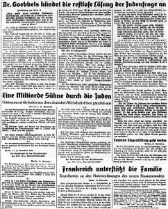 Quickborner Hasloher Tageblatt 14.11.1938