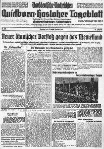 Quickborn-Hasloher Tageblatt 15.08.1933