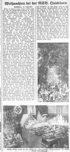 Weihnachtssammlung der NSV (Pinneberger Tageblatt, 27.12.1935)