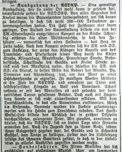 SA-Kundgebung in Quickborn (Pinneberger Tageblatt, 15.07.1932)