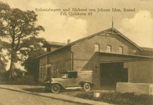 Kolonialwaren und Bäckerei Johann Iden, ca. 1920er Jahre (Foto: J. W. Jacobsen)