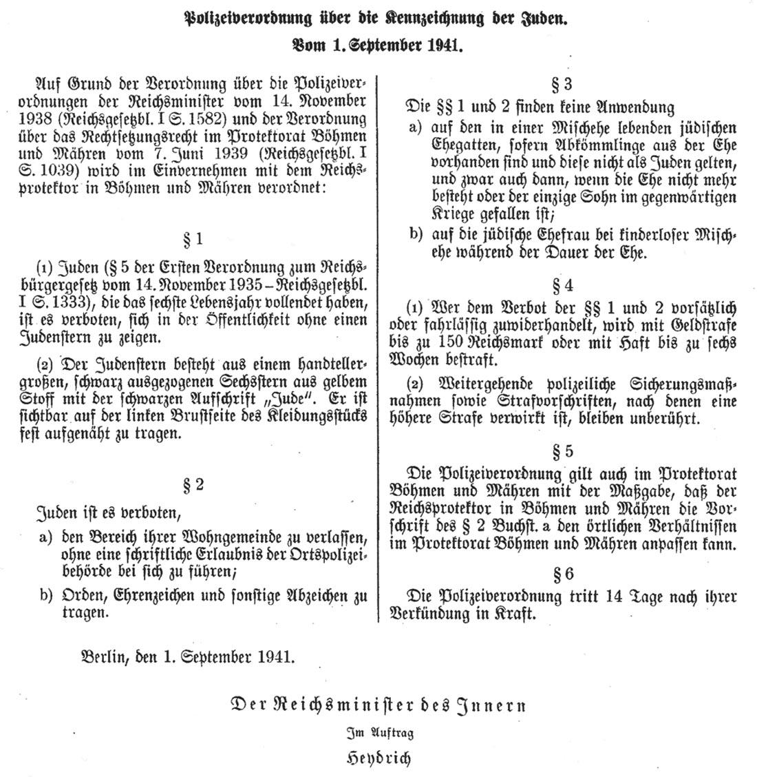Kennzeichnungspflicht für Juden