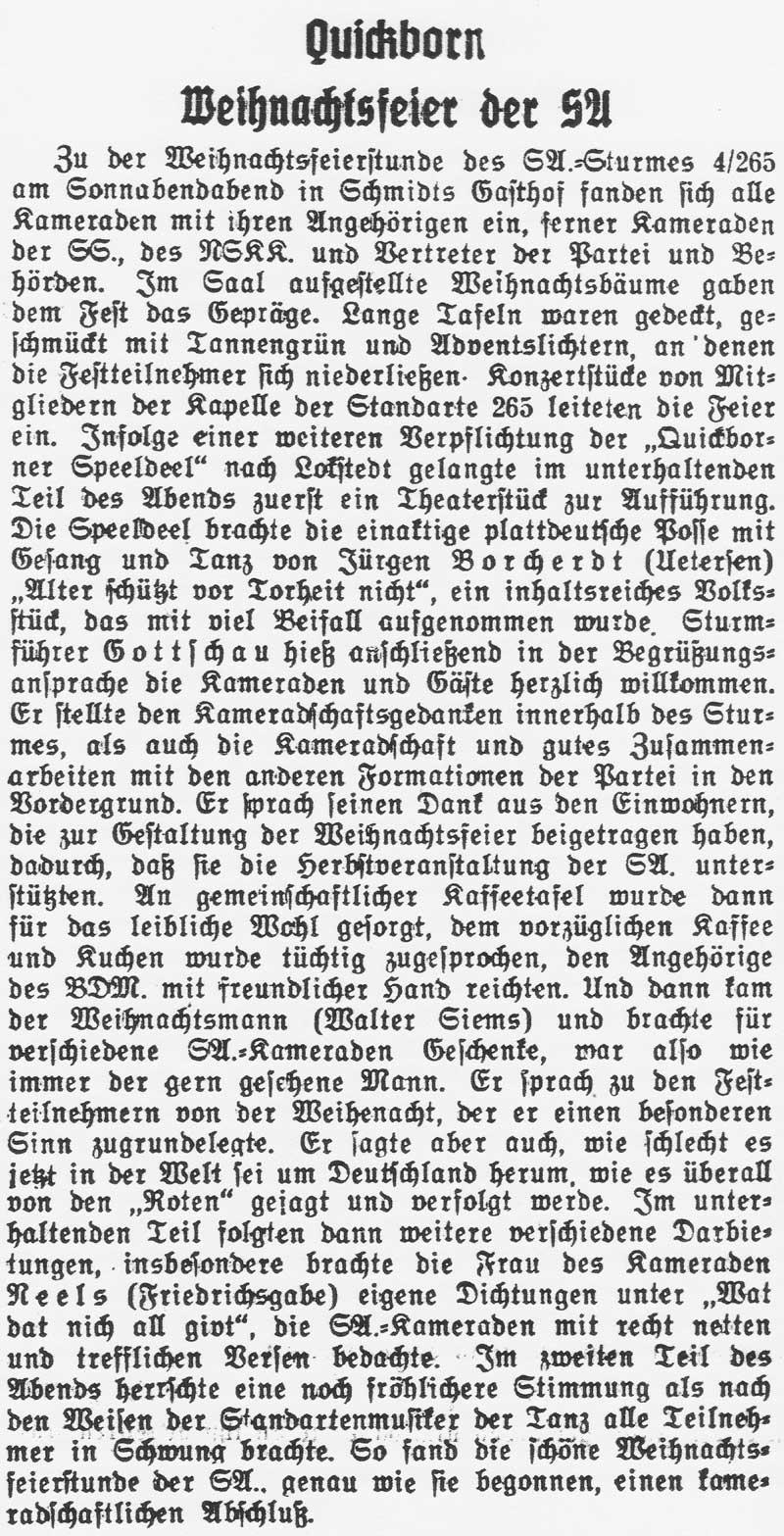 Quickborn-Hasloher Tageblatt, 21.12.1936