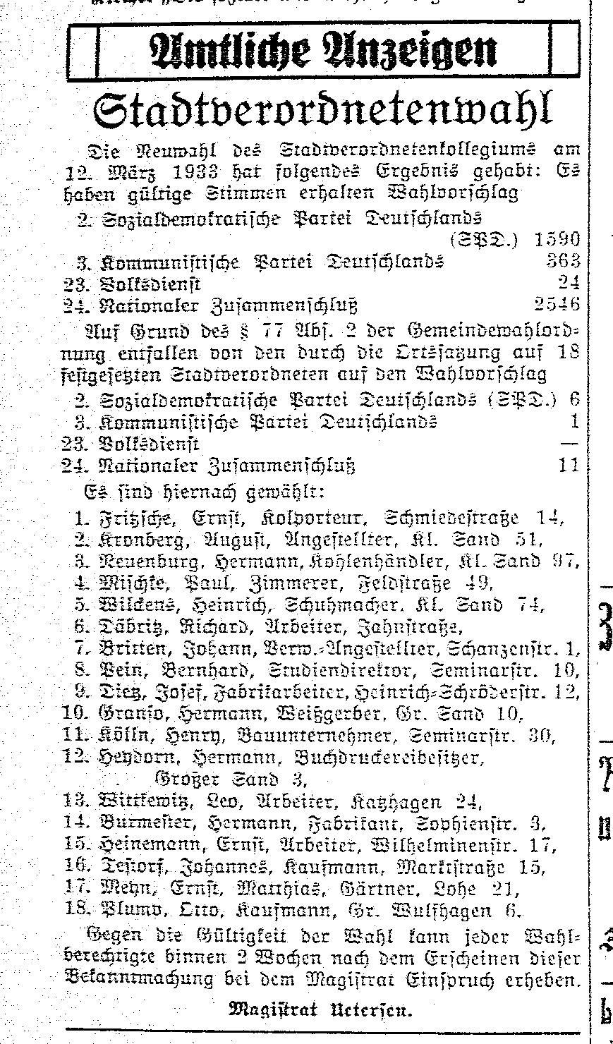 UeNa vom 14.03.1933