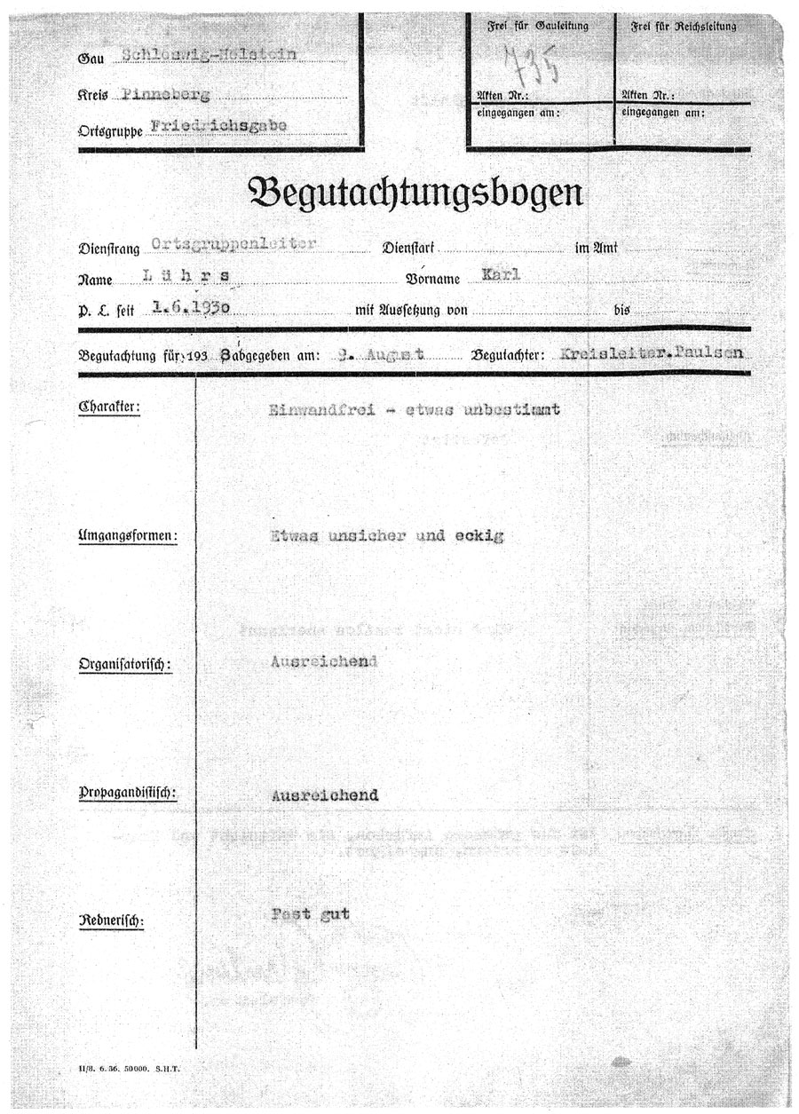 Begutachtungsbogen Karl Lührs 1v2