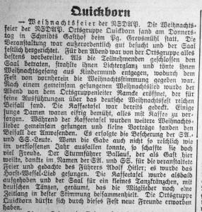 Weihnachtsfeier der NSDAP 1932