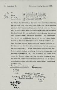 Schreiben des Magistrats der Stadt Uetersen vom 07.08.1933, Seite 2