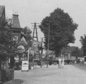 Quickborn - Schmidts Gasthof, Kieler Straße, ca. Mitte der 1930er Jahre (Sammlung: Jörg Penning)