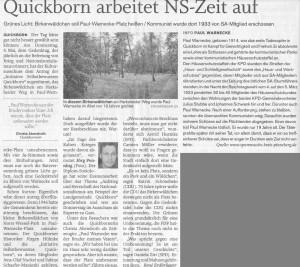 Quickborner Tageblatt, 10.05.2014