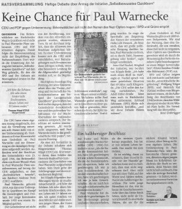 Quickborner Tageblatt, 28.05.2014