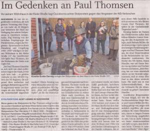 Quickborner Tageblatt, 02.12.2015 (Autor: Peter Jäger)