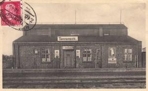 Ellerau - Bahnhof Tanneneck mit Bahnhofsgastwirtschaft A. Kruse, ca. 1930 (Foto: Johannes Peter Möller)