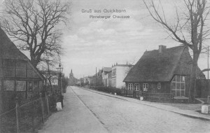Pinneberger Chaussee, Quickborn ca. 1915 (Foto: Rudolph Schildt)