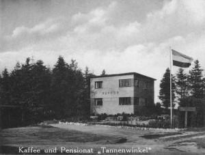 Kaffee und Pensionat 'Tannenwinkel', Hasloh ca. 1930 (Foto: W. Bindseil)
